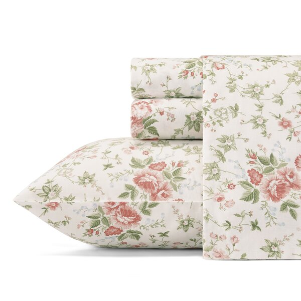 Lilian 300 Thread Count 100% Cotton Sheet Set by Laura Ashley Home